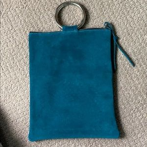 Oliveve Laine Ring Clutch turquoise